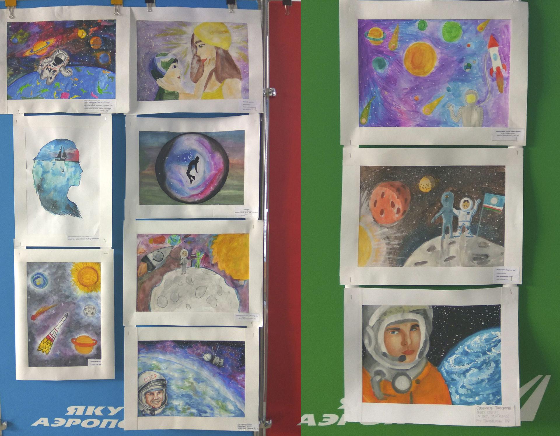 В аэропорту Якутска открылась выставка юных художников
