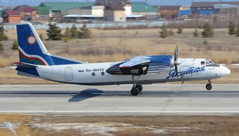У самолета Ан-24 в воздухе отказал двигатель