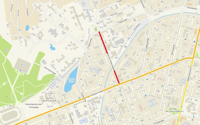 С 12 апреля перекроют часть улицы Петра Алексеева