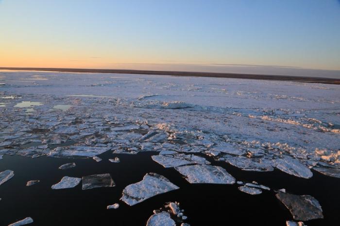 Началась онлайн-трансляция ледохода на Лене