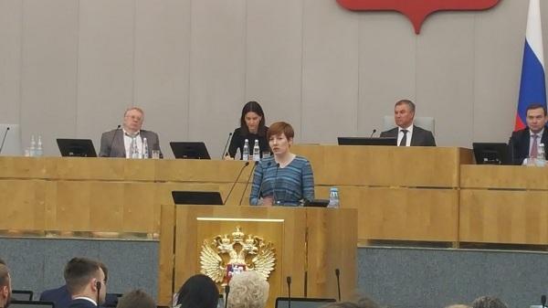 Молодогвардеец из Якутии выступила на слушаниях в Госдуме