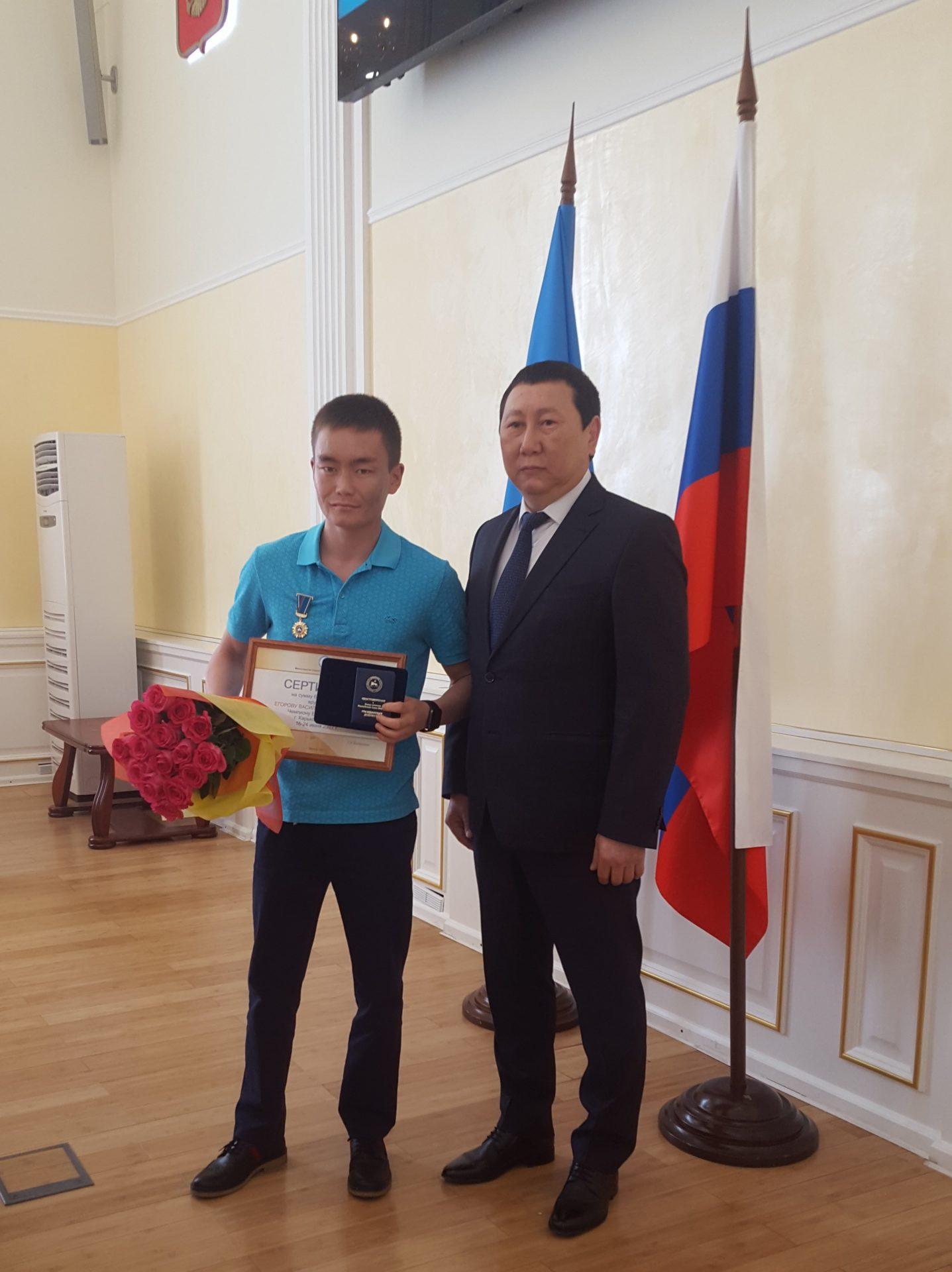 Василию Егорову вручен знак отличия «Гражданская доблесть»