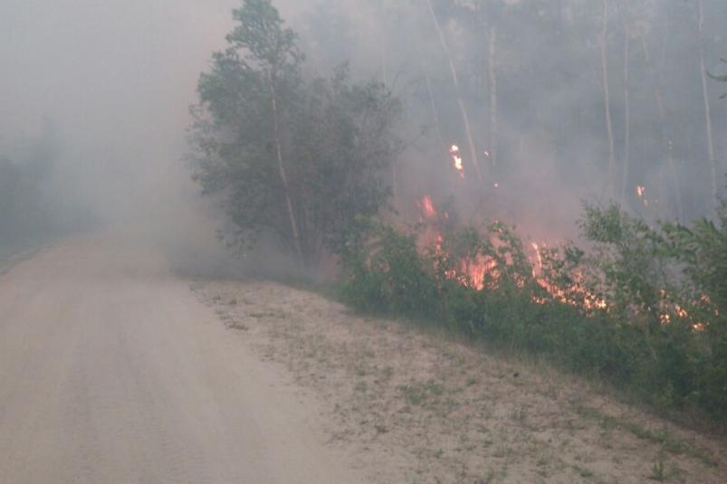 Лесной пожар в Намском районе Якутии приблизился к селу Модутцы