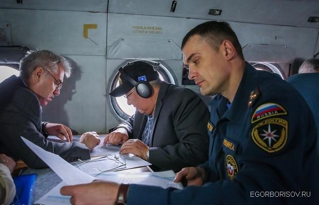Глава Якутии провёл мониторинг обстановки в зоне ЧС