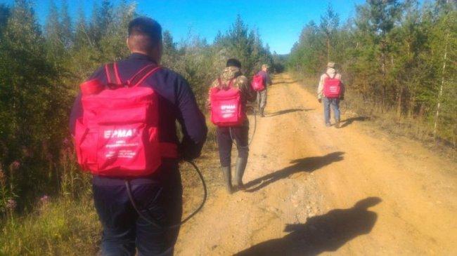 Добровольная пожарная дружина с. Хатассы ликвидировала пожар на 6 км. с. Владимировка