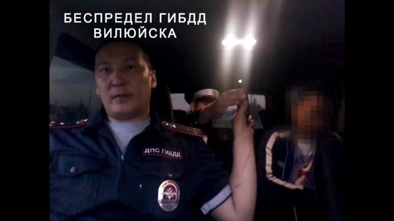 В Вилюйске сотрудники ГИБДД избивают задержанного пьяного водителя?