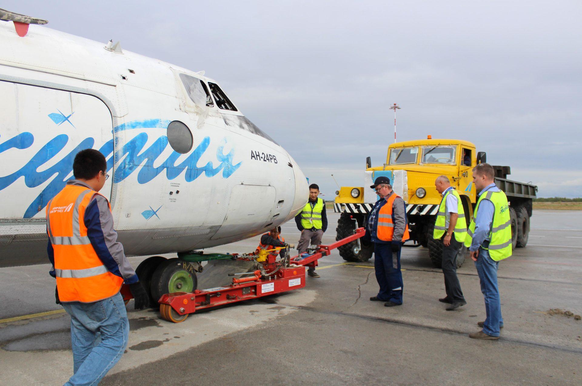 Службы аэропорта «Якутск» отработали учения по эвакуации ВС с аэродрома