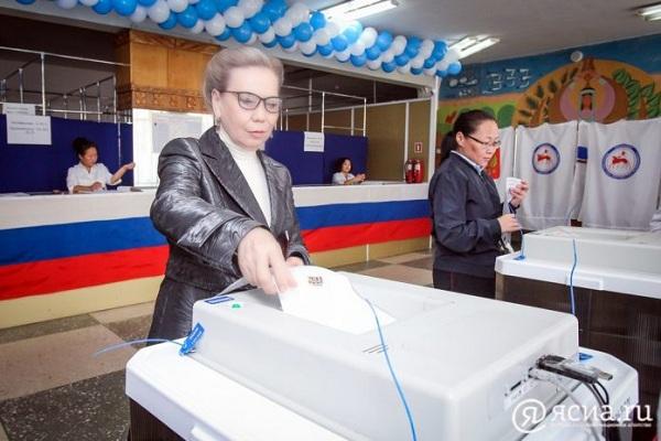 Галина Данчикова проголосовала на выборах