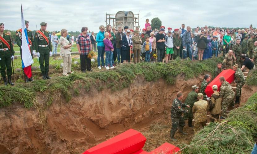 Якутяне приняли участие в перезахоронении солдат, павших в боях за Родину