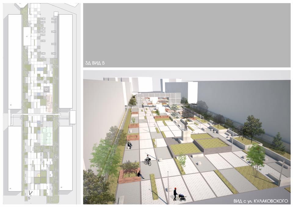 Строительство Бульвара учителя продолжится в следующем году
