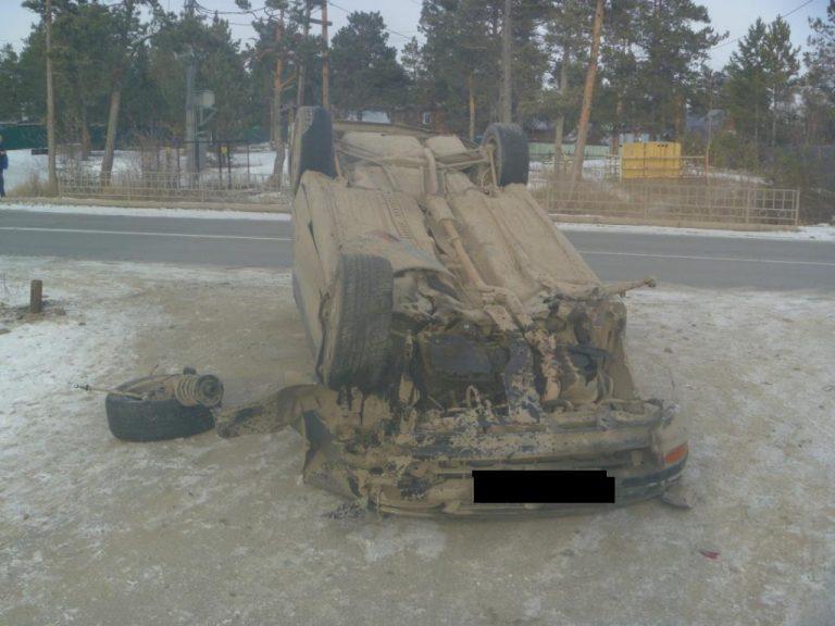 Пьяный водитель совершил опрокидывание автомобиля
