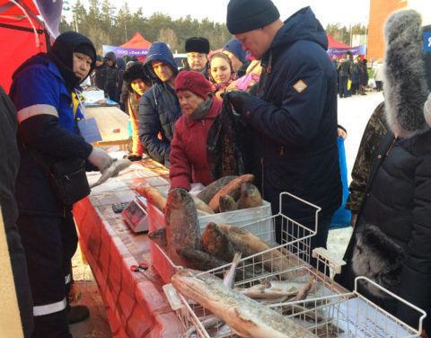 На выставке-ярмарке «Рыба Якутии-2017» продали 50 тонн свежей рыбы