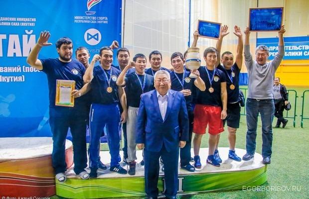 Егор Борисов поздравил победителей республиканского первенства по хапсагаю среди наслегов