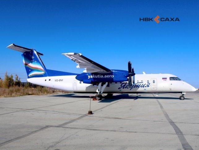 В Якутске совершил аварийную посадку Bombardier Q-300 с 27 пассажирами