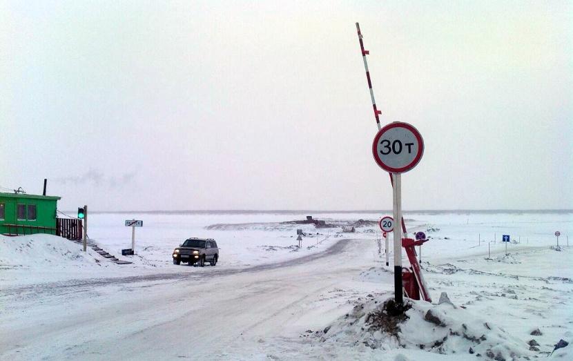 Увеличена грузоподъемность ледового автозимника «Якутск-Нижний Бестях»