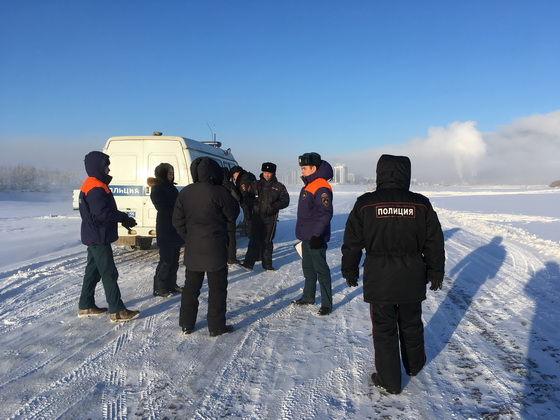 Профилактический рейд инспекторов ГИМС на льду