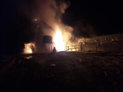 В п. Бердигестях Горного района произошел пожар на котельной