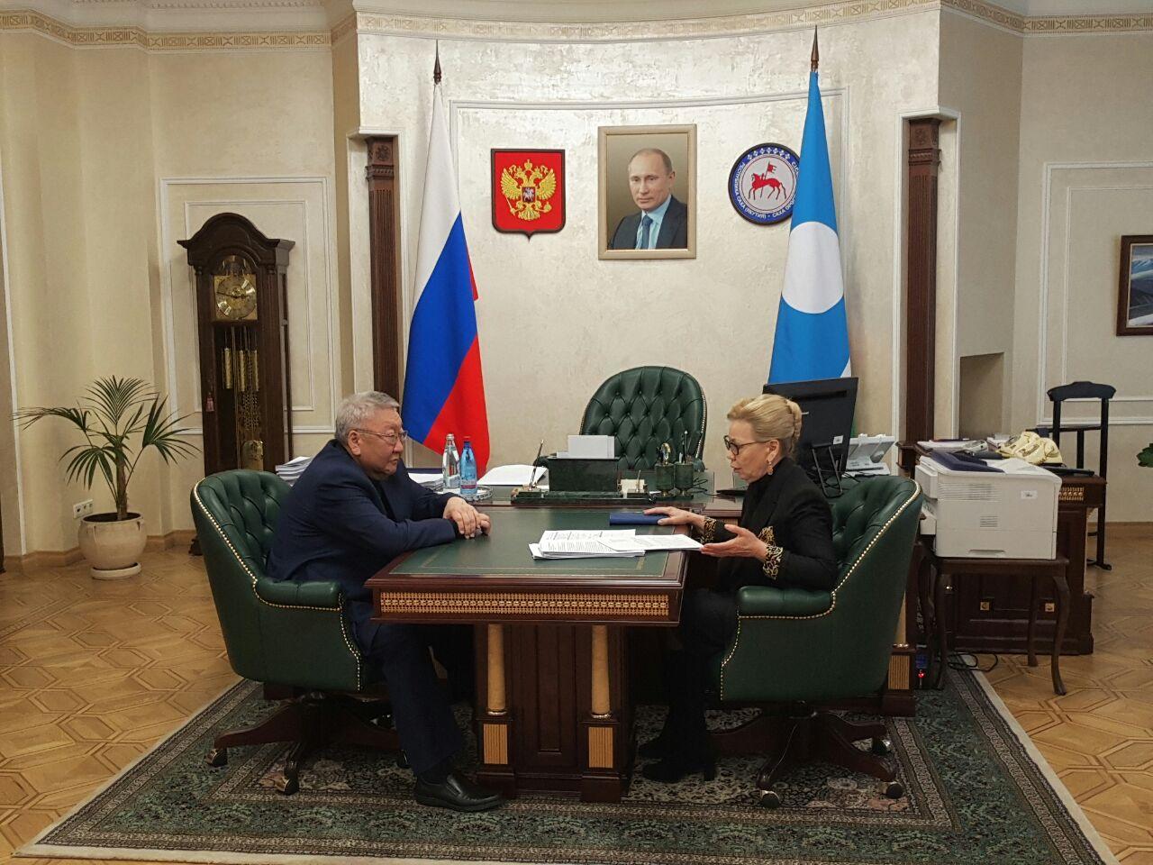 Егор Борисов и Галина Данчикова сверили планы совместной работы