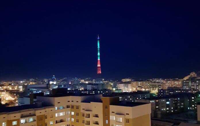 В Якутске подключат иллюминацию крупнейшей телебашни на вечной мерзлоте