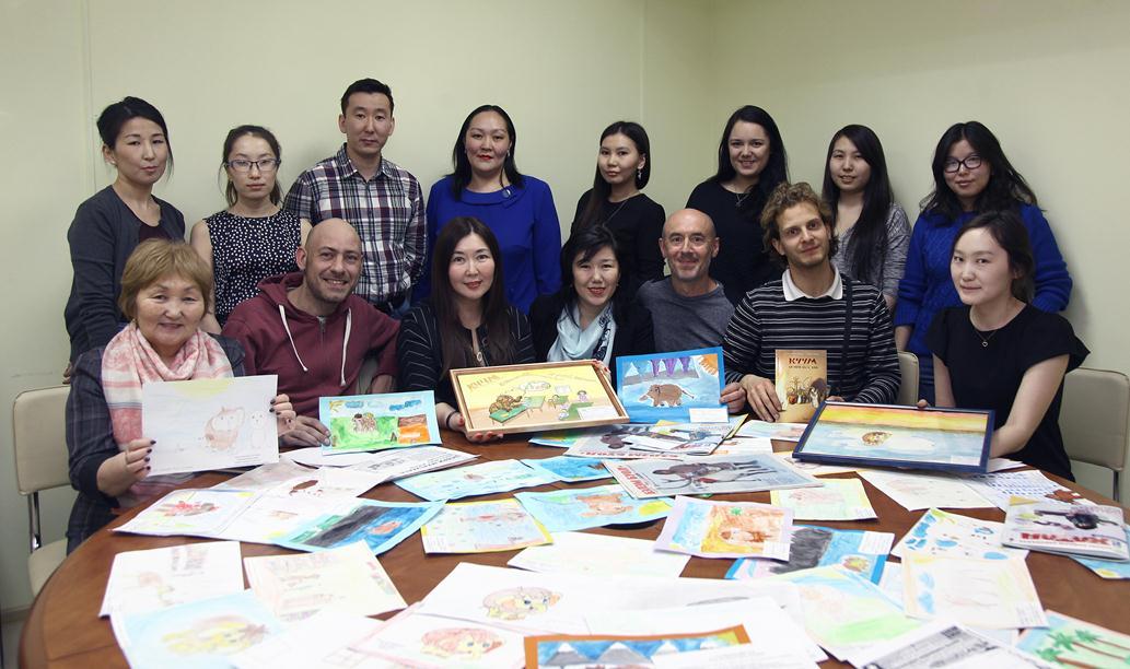 Французский писатель Жан-Мишель Шеври презентовал книгу о якутском мамонтенке