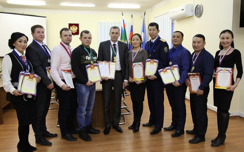 Подведены итоги спартакиады работников прокуратуры и следственного управления СКР по Якутии 2017-2018 года