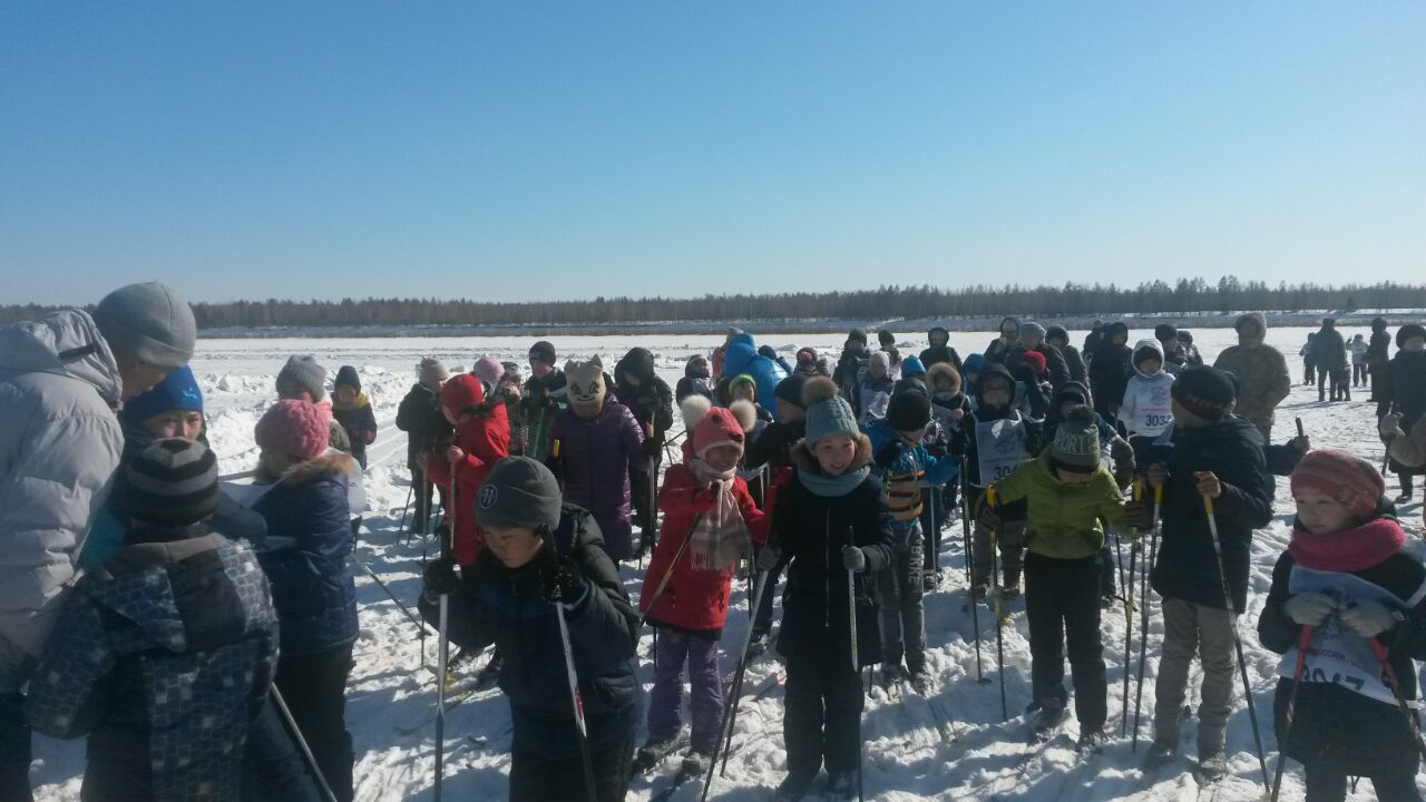 Всероссийская массовая гонка «Лыжня России» в Нюрбинском районе