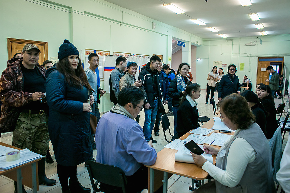 ПГ в Якутске: на 18.00 часов проголосовало 19 689 выборщиков