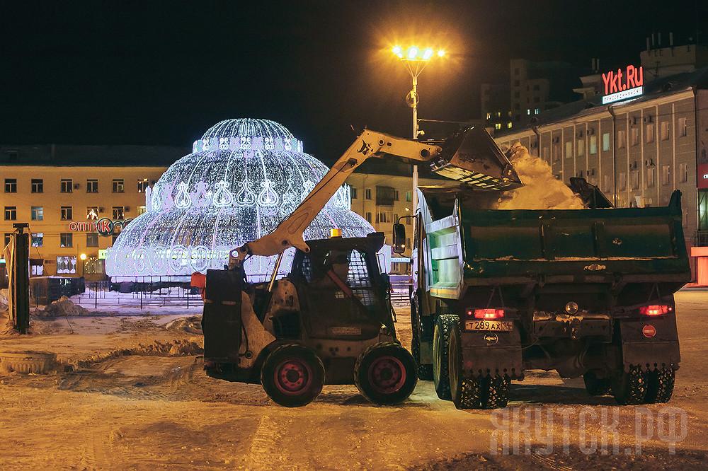 Коммунальщики Якутска работают в круглосуточном режиме