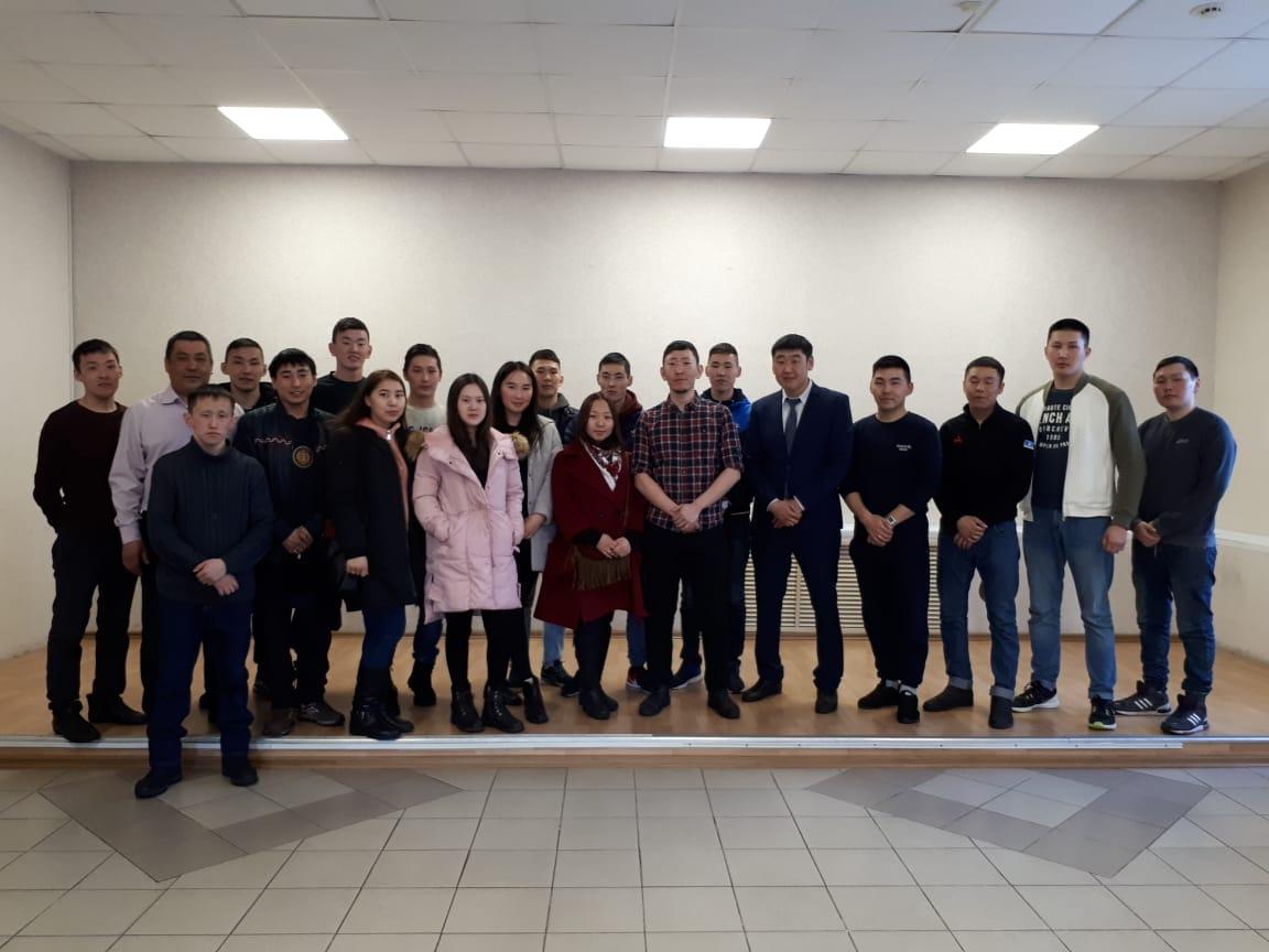 Совет молодежи АК «Железные дороги Якутии» познакомил с практикантами Транспортного техникума.