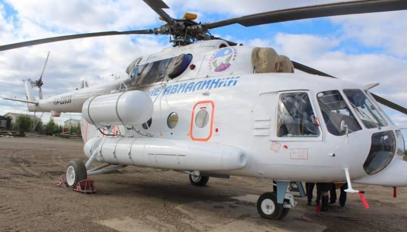 В Среднеколымский улус прибыл новый санитарный вертолёт Ми-8 МТВ-1 с медицинским модулем