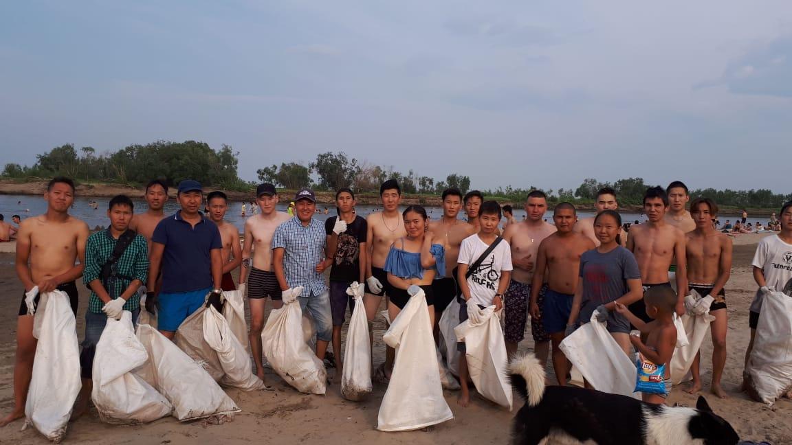 Село Хатассы присоединилось к акции «Чистый берег»