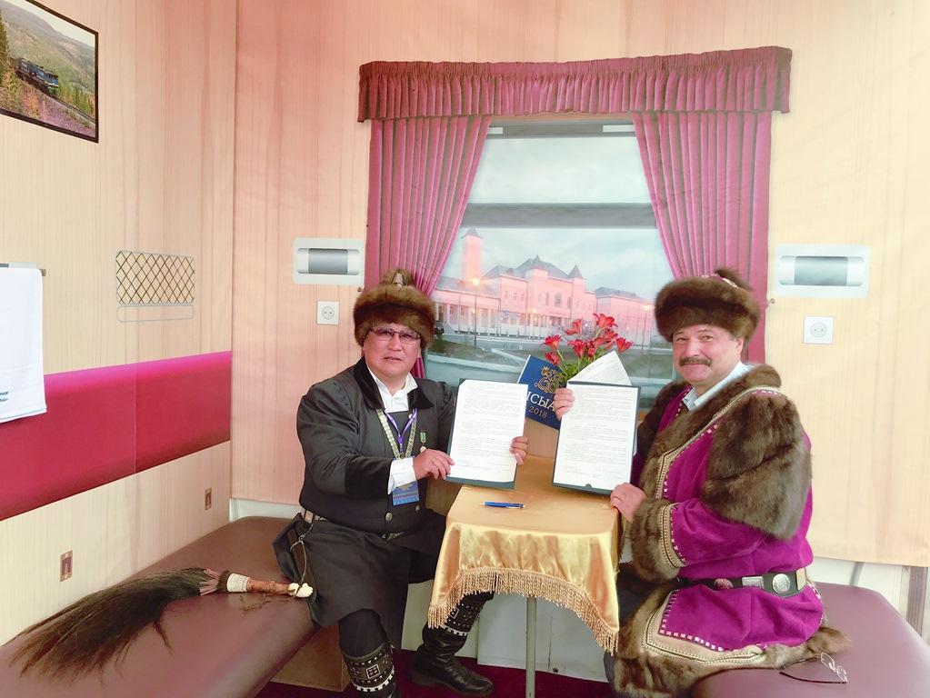 На Ысыахе Олонхо ЖДЯ и Мегино-Кангаласский район подписали соглашение о сотрудничестве