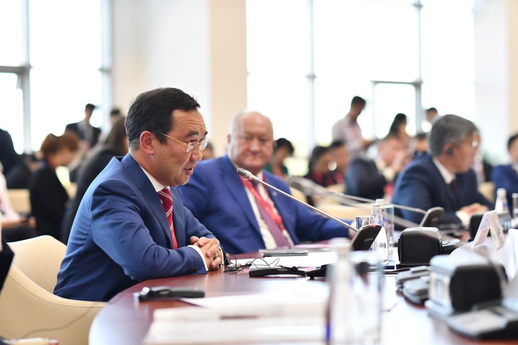 Айсен Николаев о значении строительства Ленского моста на «круглом столе» руководителей регионов России и Китая