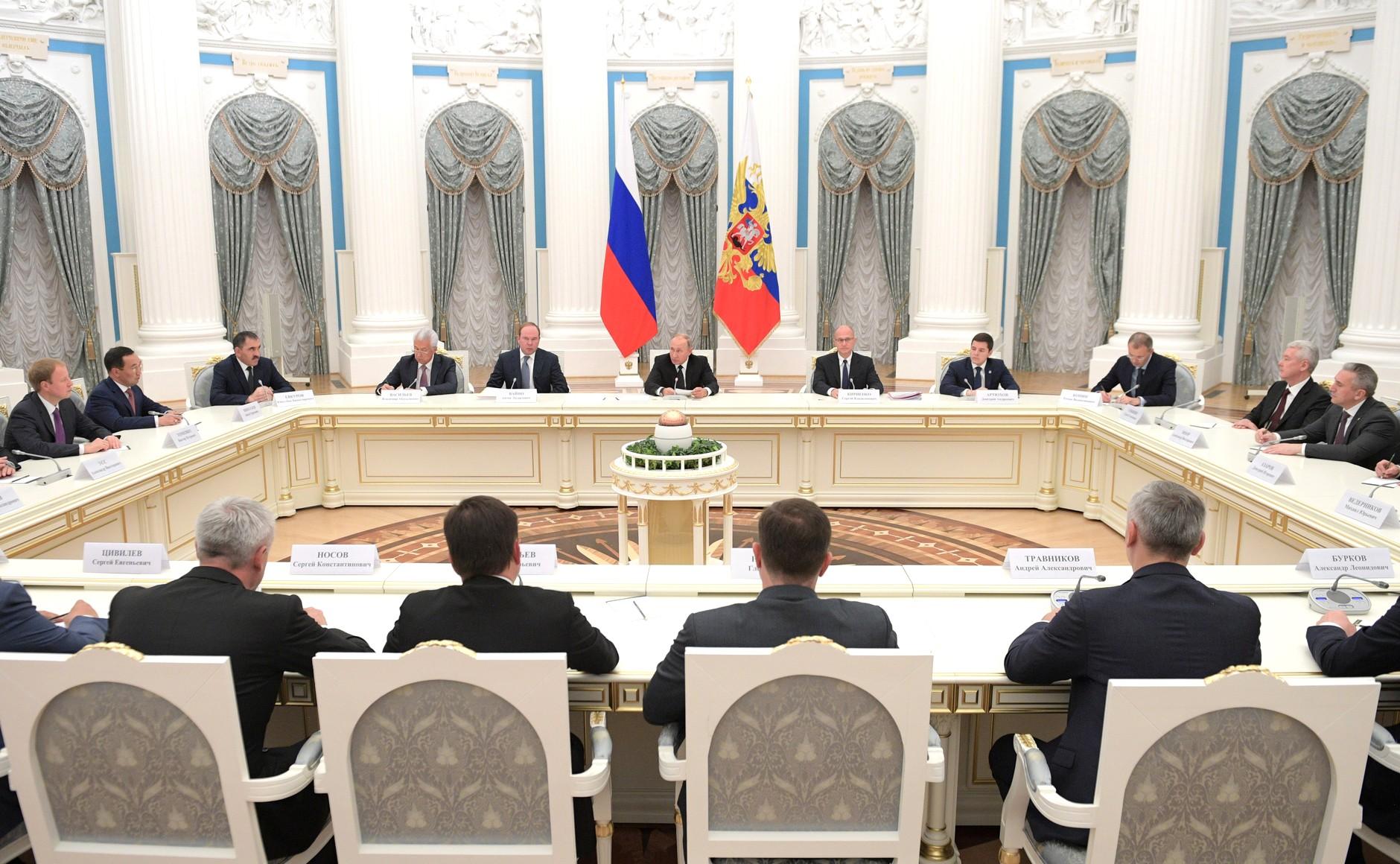 Айсен Николаев принял участие во встрече Владимира Путина с губернаторами, избранными в единый день голосования