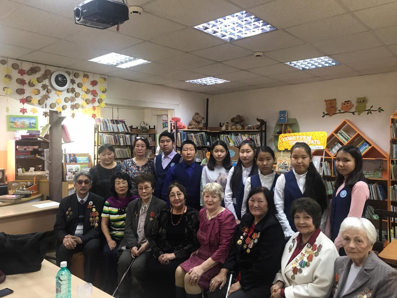 Ветераны Сайсарского встретились с учениками школ