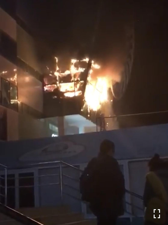 Пожар в СахаЭкспоЦентре