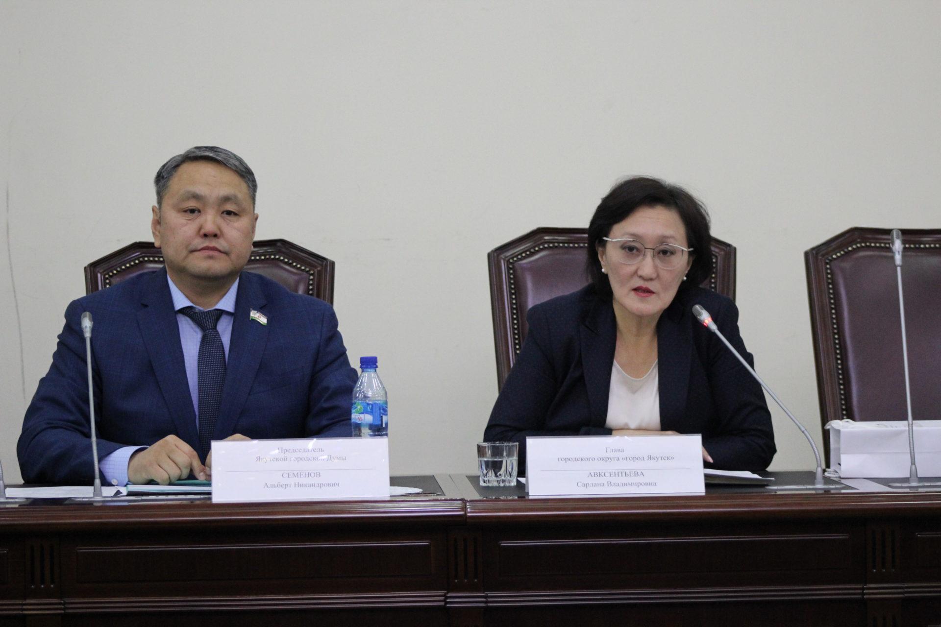 Депутаты Городской Думы встретились с Главой Якутска