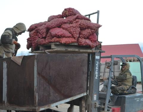 В Якутии продолжается завоз картофеля и овощей в северные и арктические улусы