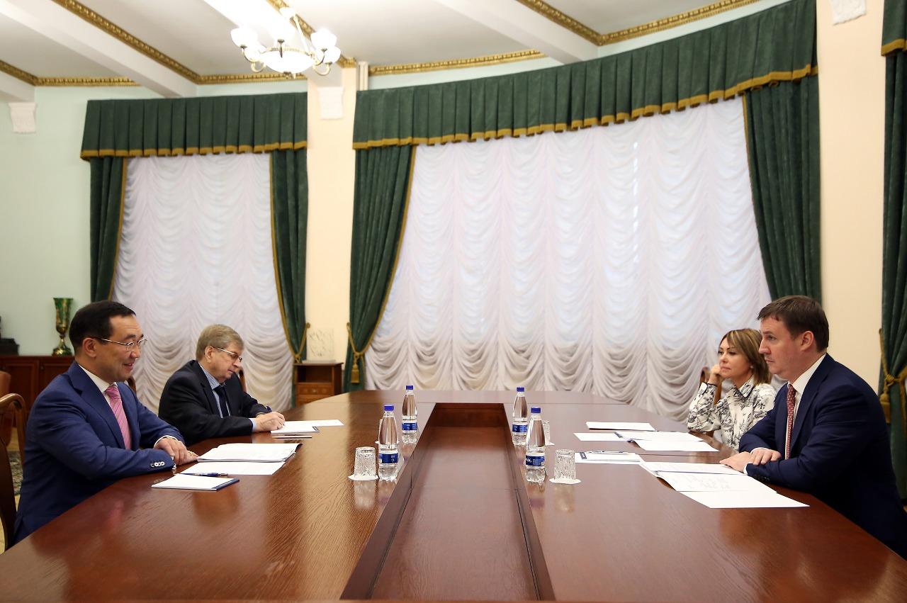 Айсен Николаев встретился с министром сельского хозяйства РФ Дмитрием Патрушевым