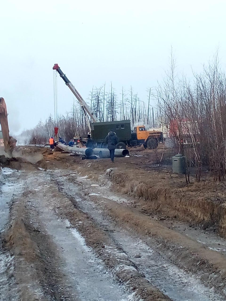 «Сахатранснефтегаз»: аварийно-восстановительная работа поврежденного газопровода идет полным ходом