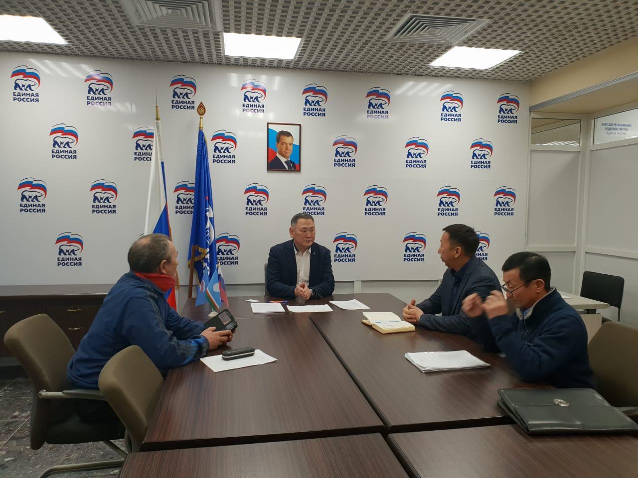 Сахамин Афанасьев провел прием граждан в День рождения Партии
