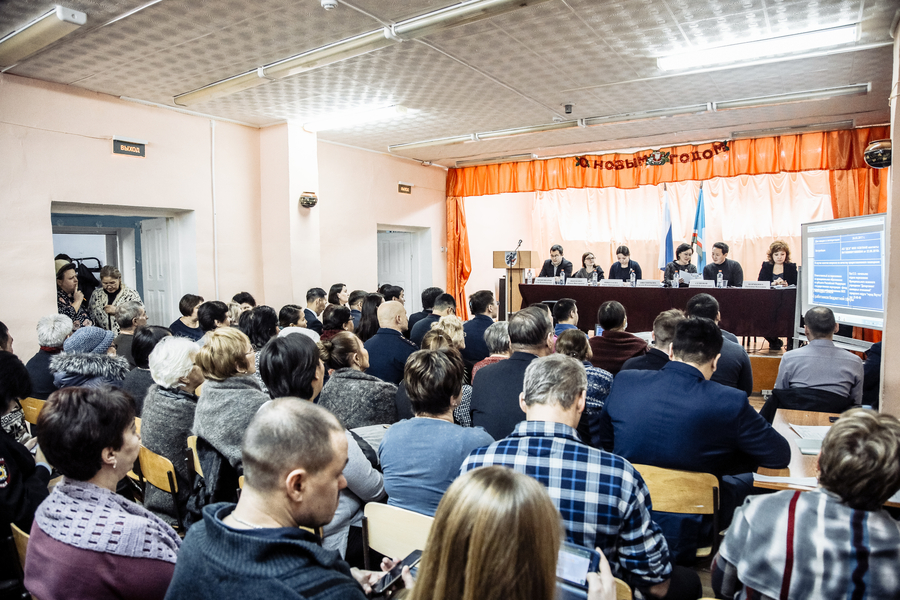 Сардана Авксентьева выступила с отчетом перед населением села Табага