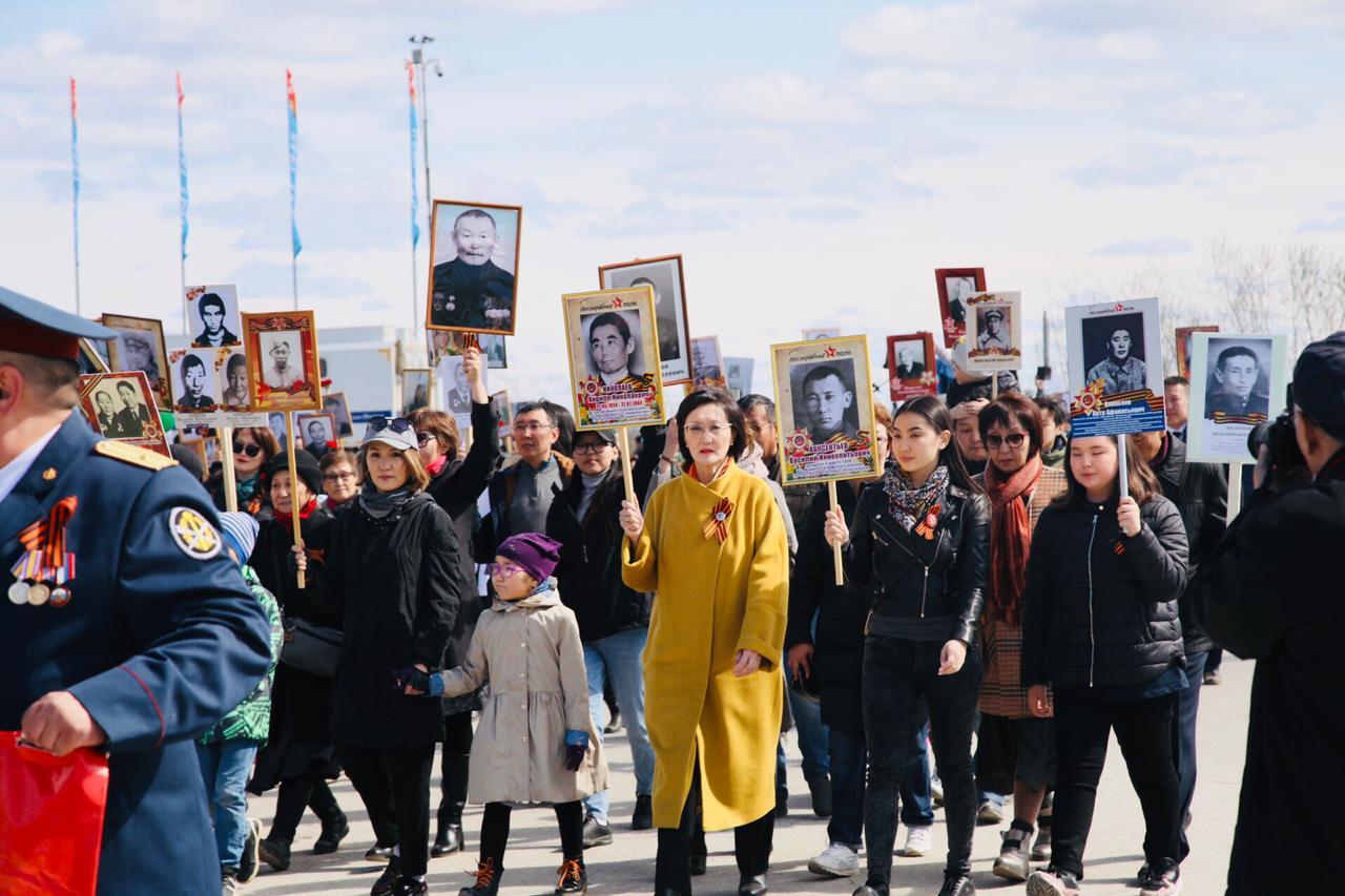 В акции «Бессмертный полк» в Якутске приняли участие 40 тысяч человек