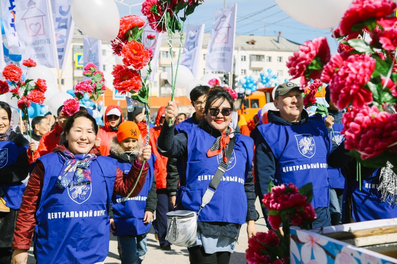 В Якутске на первомайскую демонстрацию вышли более 55 тысяч человек