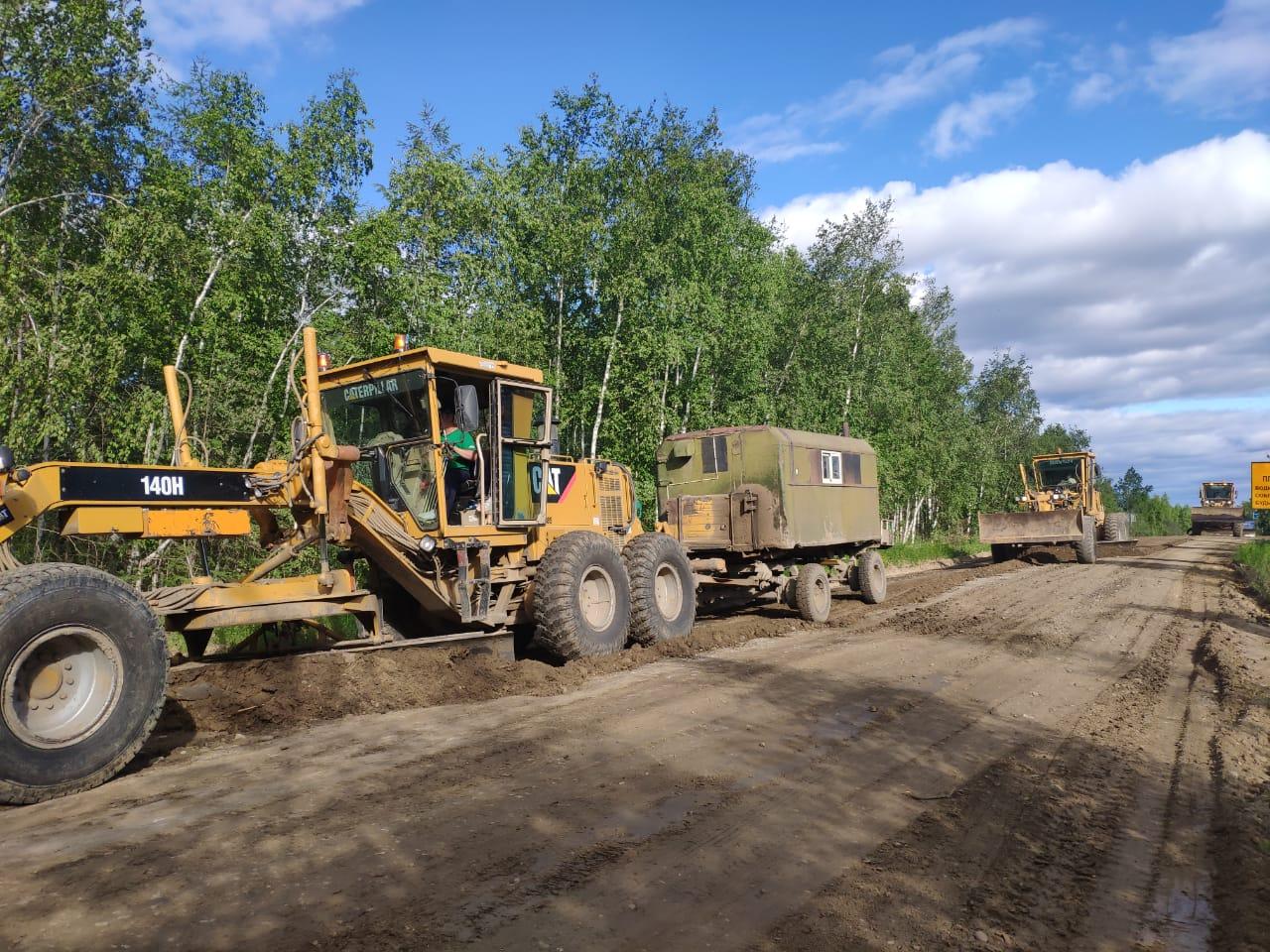 На автодороге «Амга» ведутся дорожные работы к VII Спортивным играм народов Якутии