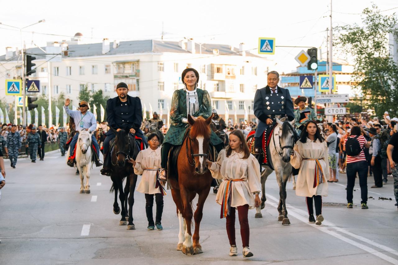 В Якутске впервые состоялся парад северных всадников