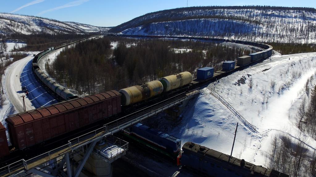 Рост перевозок компании «Железные дороги Якутии  составил 54%