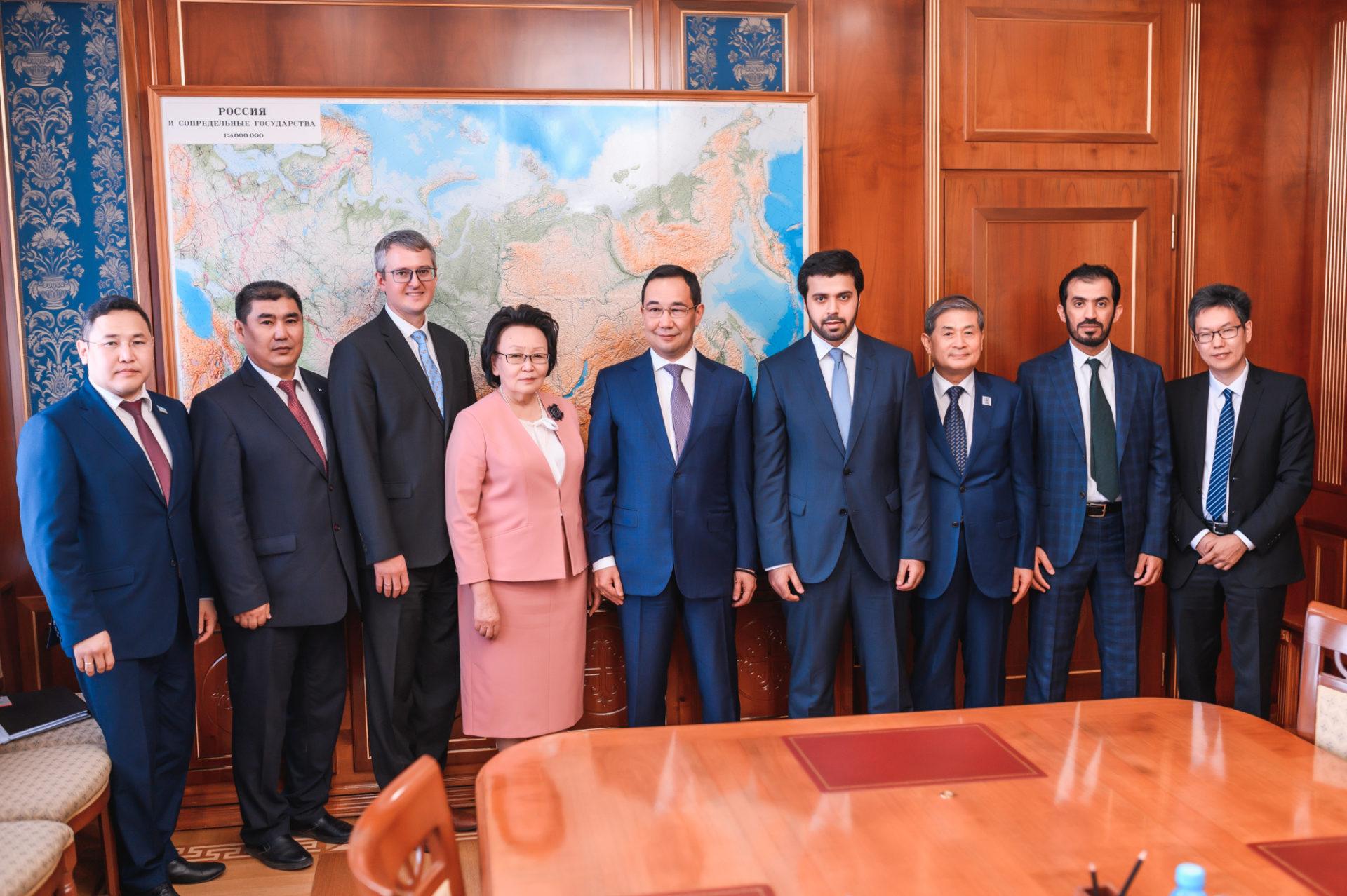Айсен Николаев встретился с делегацией Фонда развития Абу-Даби и Фонда биотехнологических исследований SOOAM