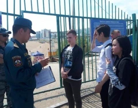 Инспекторы ГИМС г. Якутска провели разъяснительные беседы с населением