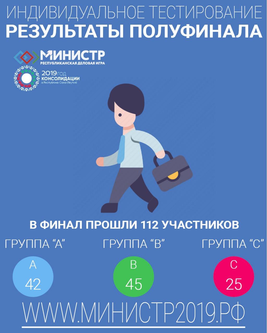 К финалу Республиканской деловой игры «МИНИСТР» допущены 112 участников